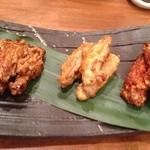 福の根dining - 手羽唐3種揚  ピリ辛やカレー風味