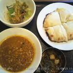 ショナリ - 豆カレー,チーズ・ナン,バングラデシュのおかず