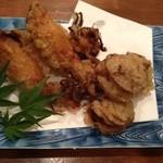 福の根dining - ほたてとイカの揚げ物