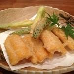 福の根dining - 甘いトウモロコシの天ぷら♪