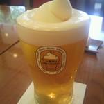 神楽坂 龍公亭 - フローズン生ビールLサイズ (700円)