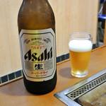 双月 - ビール大瓶(500円)