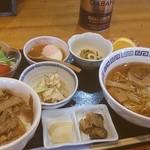 喜多山 - 舟橋村「喜多山」の日替わり定食。牛丼とラーメン、棒々鶏など豊富なメニュー!!