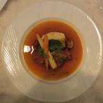 レストラン ル・フィザリス - 仔牛すね肉のグーラッシュ・エストラゴン風味ポテトピュレ