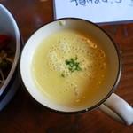 20769338 - ランチセットの味噌汁は+100円で濃厚コーンスープに出来ます