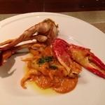 オステリア スゲロ - 子持ち渡り蟹のトマトクリームソースのトロフィエ1