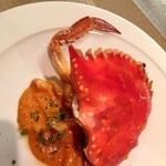 オステリア スゲロ - 子持ち渡り蟹のトマトクリームソースのトロフィエ2