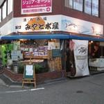 みやと水産 - 阪急塚口北改札口出てまっすぐ進み、見事に4つの金融機関が角にある交差点を北に進みます。