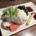 みやと水産 - 岩かき酢、580円也。