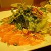 あえかつ - 料理写真:サーモンと貝柱のカルパッチョ