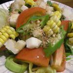 旬彩 十々 - トマトとオクラのサラダ