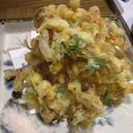 旬彩 十々 - 海老と玉蜀黍のかき揚げ