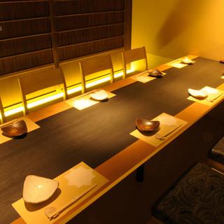 プライベート感覚で利用できる、ゆったりとした個室完備