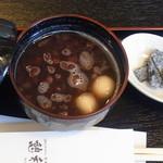 憩和井 - 白玉ぜんざい(温) 550円