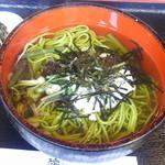 憩和井 - 茶そば (漬物付) 700円