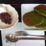 憩和井 - 抹茶パンケーキ 650円