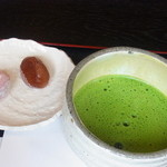 憩和井 - 抹茶セット (菓子2品付) 550円