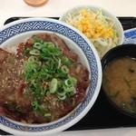 吉野家 - ネギ塩豚丼+Aセット600円