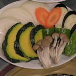 焼肉やなぎ - 野菜です