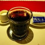 柿乃木カフェレストラン - アイス珈琲+チョコレート