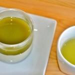 池川茶園 - かぶせ茶プリンと冷茶のセット