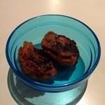 アンドロイドル カフェ - お通し 椎茸と挽肉