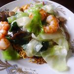 中椿楼 - 料理写真:海老焼きそば(塩味)