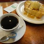 コーヒー苑 - ブレンド&メープルトースト