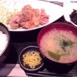 美味門 -うまいもん- - 生姜焼き定食(720円)