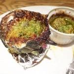 Resutoranyamanekoken - サザエとマッシュルームの壺焼き エスカルゴ風
