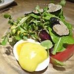 Resutoranyamanekoken - サマートリュフと10種類の夏野菜サラダ ウフマヨネーズ添え