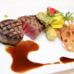 アプローズ - ウエディングコースお肉料理の一例です。