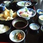 208619 - 刺身定食天ぷら付き