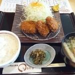 まる兵衛 - ヒレカツ定食~お味噌汁のスープが香り良くて美味しい!