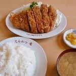 とんかつ竜 - 特上カツ(ライス・味噌汁・お新香付き)1,200円