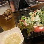ふく - お通しとシーザーサラダ