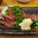 ぐんけい 清武店 - (鶏)レバー刺身 ハーフ525円
