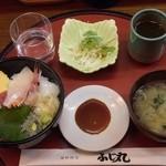 ふじ丸 - 海鮮丼¥500