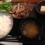 さつまや - ランチの牛肉炒め定食(980円)