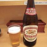 とんかつ山家 - まずはビールです