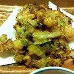 個室割烹日本海 - 海鮮かき揚げ(しらすご飯と海鮮かき揚げ)