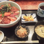 新勝丸 - ブリ漬け丼¥500