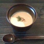 松水庵 - 菫(すみれ 2300円) 椀物:朧とうふの豆乳スープ
