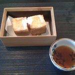 松水庵 - 菫(すみれ 2300円) 主菜:作りたて揚げとうふ 自家製ポン酢添え
