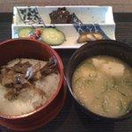 松水庵 - 菫(すみれ 2300円) お食事:舞茸御飯、冷汁、自家製香の物
