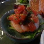 花・ふらんす食堂やまもと - 小海老と具沢山のシーザーサラダ仕立て