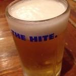 韓喰 - セットのハイトビール