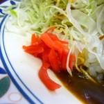 キッチン南海 - 珍しい!紅生姜つきです