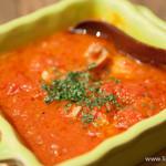グリルド エイジング・ビーフ - コプチャンのトマト煮込み オレガノ風味