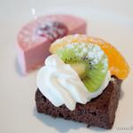 タンタローバ デル ミュゼオ 御殿場 - チョコレートとフランボワーズのケーキ